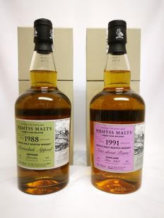 "2 bottles - Wemyss Blair Athol  1991/2015 Single Cask Release ""Nuts about Pears"" & Wemyss  Glenrothes 1988/2015 Single Cask Release ""Marmalade Appeal"""