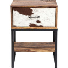 KARE - small dresser, wood and cow skin, second half of the 20th century