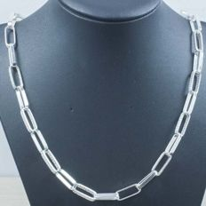 925/000 silver necklace – Italian design – Length: 60 cm – Weight: 34.50 g.