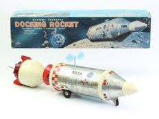 Daiya, Japan - Length 40 cm. - Space toy tin Docking rocket, ca 1960