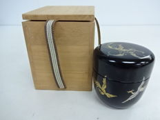 Lacquered matcha (green tea) caddy ('cha-ire') - Japan - Mid 20th century