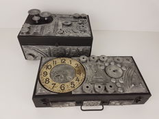 2 boxes in Steampunk style