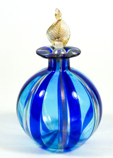 Livio Campanella (Campanella) - Filigree blue/aquamarine bottle