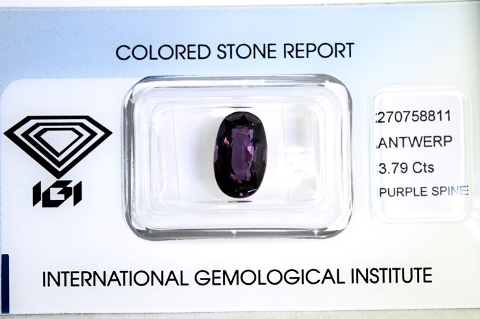 Purple Spinel – 3.79 ct