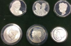 Netherlands - Lot of various coins and medals (6 different ) - silver