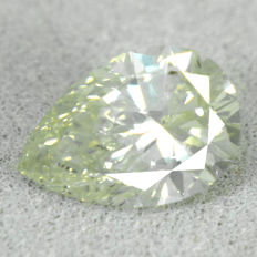Diamant - 1.01 ct, SI1 - Natural Fancy Grayish Yellow