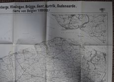 German map Western front 1916 - Belgium and Southern Netherlands > > VERY FINE!