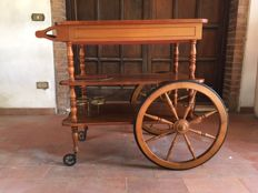 Wooden cart for refreshments