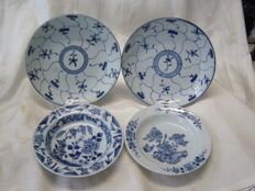 Four porcelain export dishes- China - 18th and 19th century
