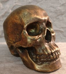 Bronze skull - realised by lost wax casting technique - Turin, Italy - mid 20th century