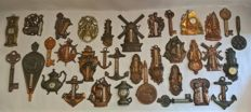 Very large collection of 34 different old and antique thermometers - last century