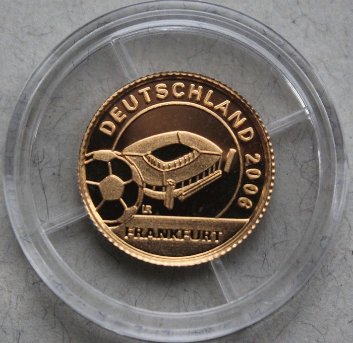 "Liberia - 10 dollars - ""World Cup 2006 - Stadium in Frankfurt""-gold"