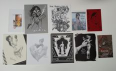 Collection Of Limited Edition Sketchbooks - Including Work By Phil Noto, Neal Adams, J Scott Campbell + More - 10 x SC - (2002/2008)