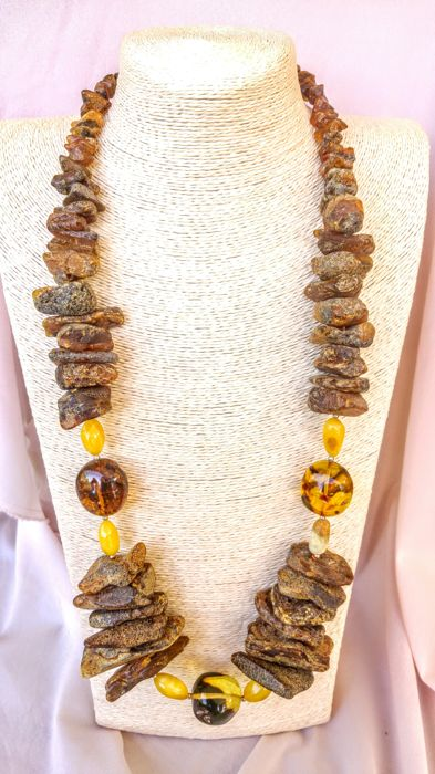 Baltic Amber necklace, length 80 cm