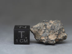 NWA 11331 - Lunar, feldspathic breccia - meteorite 2.4 x 1.5 x 0.9 cm in collection box - 4 gm