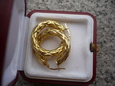 Women's yellow gold earrings (750/1000) – Diameter 24.5 mm *** no reserve price ***