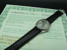 1978 ROLEX DAY-DATE 18039 WITH ORIGINAL BROWN DIAMOND DIAL AND PAPER