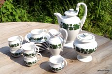 "Meissen Espresso Set ""Weinlaub"" (Vine Leaves) - 1st Choice - Empire Style"