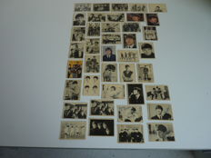 Lot with 40 very rare vintage Bazooka Chewing Gum the Beatles Picture Cards from England 1965 in good used condition. Some in color