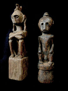 Two Yene ancestor figures - LETI - Indonesia