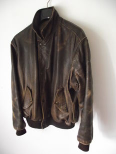 Charles Chevignon – First collection 1980 - Rare leather jacket.