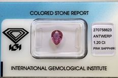 Purplish Pink Sapphire – 1.20 ct – No Reserve Price