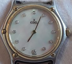 Ebel classic men's watch model 181909,  1995 gold, steel, and diamonds