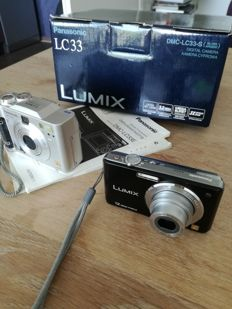 LOT LUMIX CAMS 2X LC33 & DMC FS12 one in box.