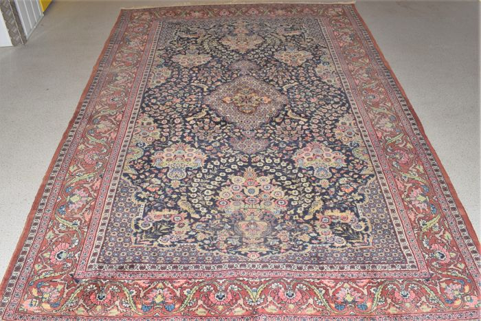 Wonderful carpet, Qom/Ghum, mid previous century - 295 x 183 cm.