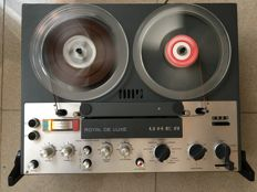 German Reel to Reel TAPE Recorder  UHER ROYAL DE LUXE  4 tracks STEREO.  Particular collection. With recorded test reel of  1 hour