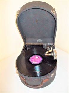 Antique case gramophone by the brand Renat