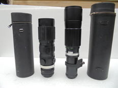 Lot of 2 lenses: Chinon Zoom 1:4.5 F=70 MM -230 MM  and Soligor 1.6.3 F=400 mm .
