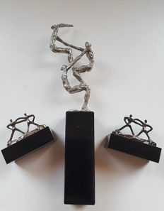 Corry Ammerlaan van Niekerk - 3 bronze-plated sculptures