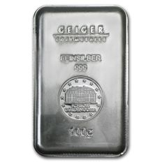 Silver bar with 100 g - Geiger (security line series)