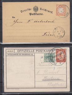 German Reich from 1873 breast-shield from Germania - batch with approx. 70 letters/cards/postal stationary/airmail