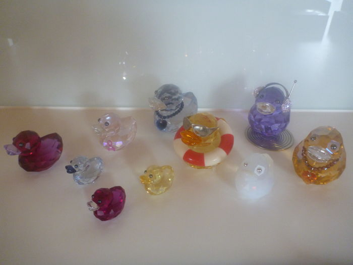 Swarovski - collection ducks love lots 10 x happy ducks