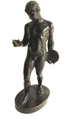 Bronze statue of 'The Discobolus ' - Italy - circa 1900