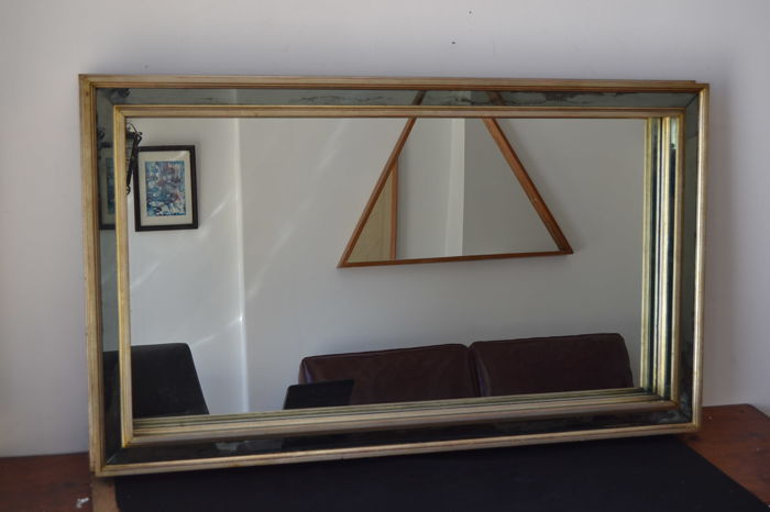 Large London model mirror - gilt wood - England mid 20th