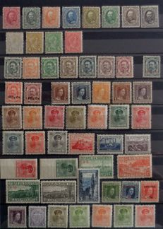 Luxembourg 1891-1957 – Semi-modern collection with complete series, posts – Between Yvert No. 59 to 130 -