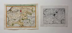 Belgium, Bruges and area; G. Robert de Vaugondy  /  Sebastian de Beaulieu - 2 copper engravings - 1748 / 1688