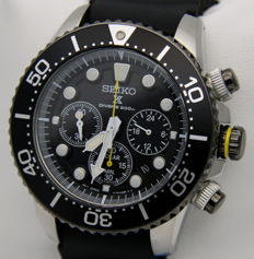SEIKO Solar Chronograph Diver's 200 m – Men's wristwatch – New