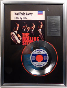 "The Rolling Stones - Not Fade Away - 7"" Single London Records platinum plated record Special Edition"