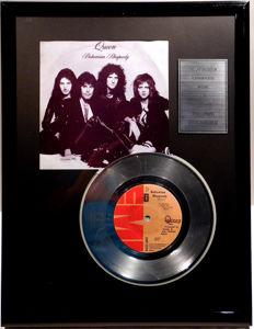 "QUEEN - Bohemian Rhapsody - 7"" Single EMI Records platinum plated record Special Edition"
