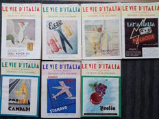 "Collection of 62 issues of ""Vie d'Italia"", magazine of news on geography, culture, society, and travel - 1913 / 1956"