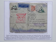 Netherlands 1934/1974 - Collection of 42 letters on show sheets, amongst which UIVER-disastre flight.