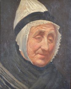Unknown. (19th century) - A Portrait of an old lady.