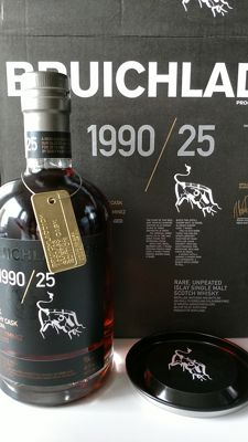 Bruichladdich 1990 25 years old - sherry cask edition - bottle nr. 45 of 6000 incl. carton