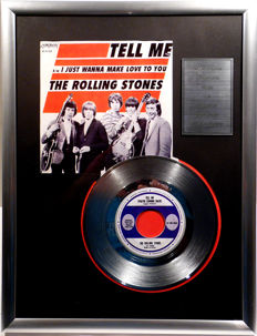 "The Rolling Stones - Tell Me - 7"" Single London Records platinum plated record Special Edition"