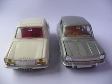 Dinky Toys France - Scale 1/43 - Peugeot 304 - No.1428 & Simca 1100 - No.1407
