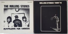 Rolling Stones - lot of 2 LPs: 1.Gather No Moss (Lilliput HJH 1001) made in Holland 1976 | 2. Tour 72 Madison Square Garden (Berkeley Records) made in UK 1972 | unofficial Fanclub albums